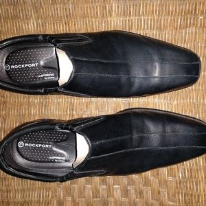 2 pairs Men's dress shoes. Rockport and Fredrena